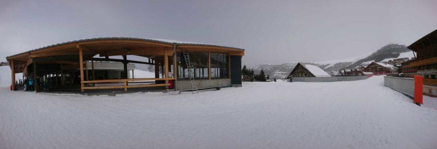 pose gare d'arrivée Alpe d'Huez