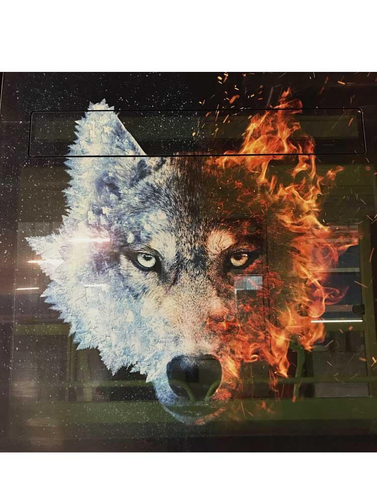 Tram lancement des playoffs de la coupe Magnus hockey sur glace Bruleurs de Loups